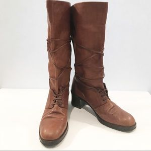 Joan & David Leather Boots Handmade in Italy